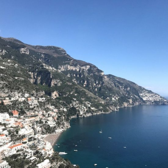 The top view of Positano from our tour.