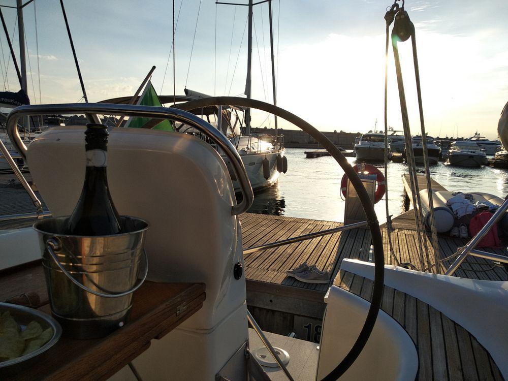 Barca ormeggiata a Sorrento