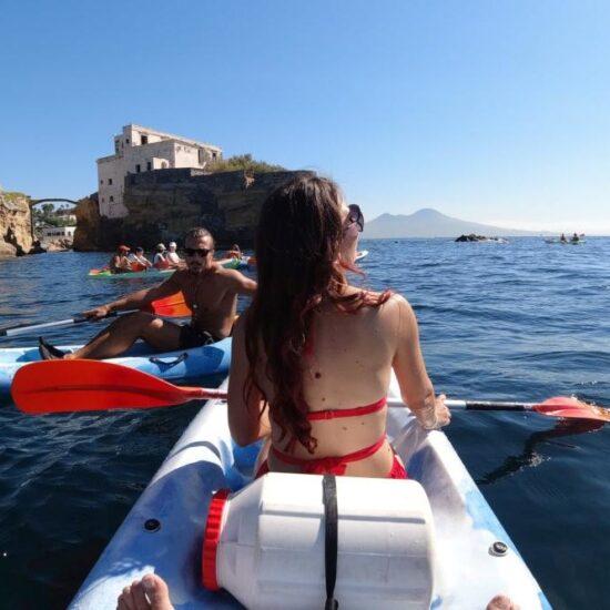 Guida in kayak vicino alle coste di Posillipo,Napoli