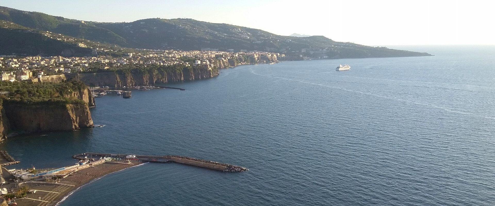 View of Sorrento Coast in Italy