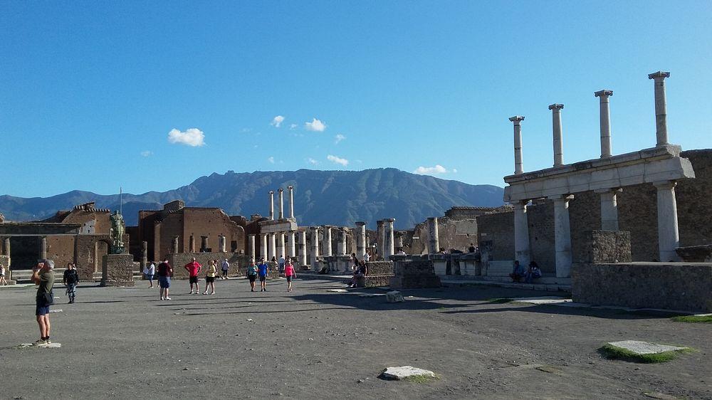 Pompeii ruins, the view of the agora