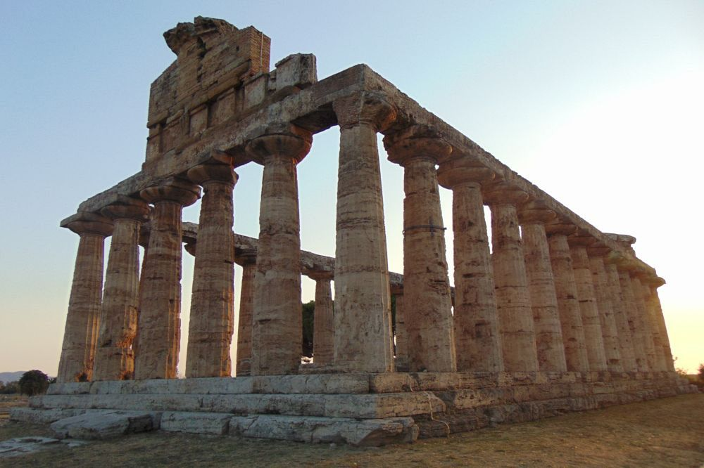 The Temple of Athena in Paestum, Italy